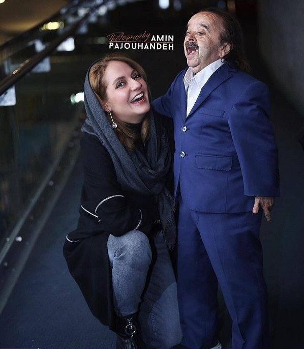 عکس های جنجالی مهناز افشار در آغوش اسدالله یکتا بازیگر مرد!