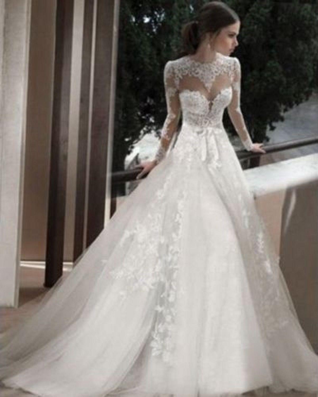 30 Exquisite Elegant Long Sleeved Wedding Dresses Chic: مدل لباس عروس 2018؛ شیک ترین مدل لباس نامزدی مجلسی 97