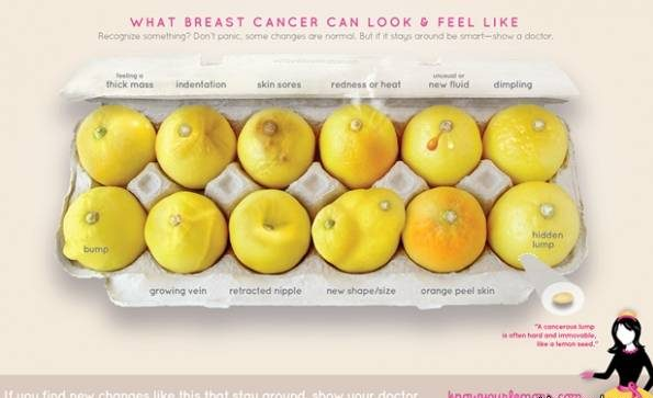علامتی روی پستان که نشان دهنده سرطان سینه است