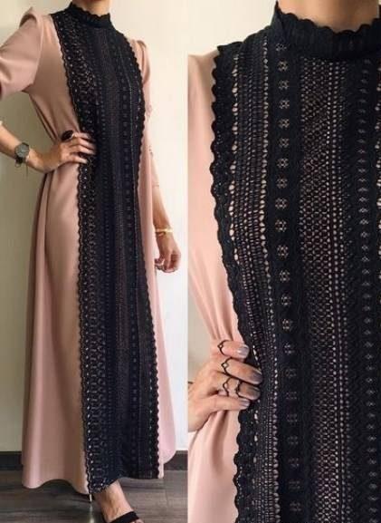 مدل مانتو بلند حریر شیک و زیبا برای عید امسال