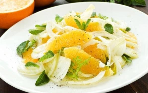 طرز تهیه سالاد پرتقال و نعنا