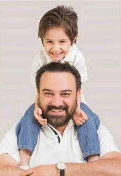 عکس جدیدبرزو ارجمندو پسرش