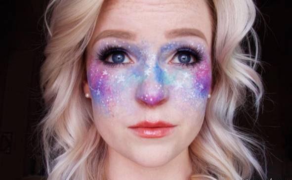 مدل آرایش کهکشانی مدل جدید میکاپ خانم ها