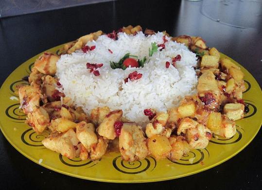 طرز تهیه پلو مرغ بهشهری غذای محلی خوشمزه