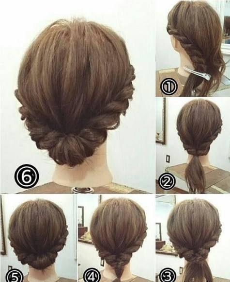 آموزش تصویری بافت موهای کوتاه ساده ولی خوشگل