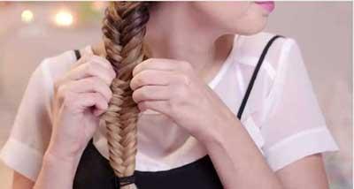 مدل بافت موی تیغ ماهی بسیار زیبا و جلوه دار