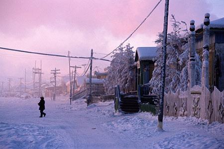 تصاویر شهر ورخویانسک سردترین شهر دنیا!