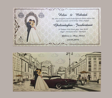 عکس های مدل کارت عروسی های زیبا