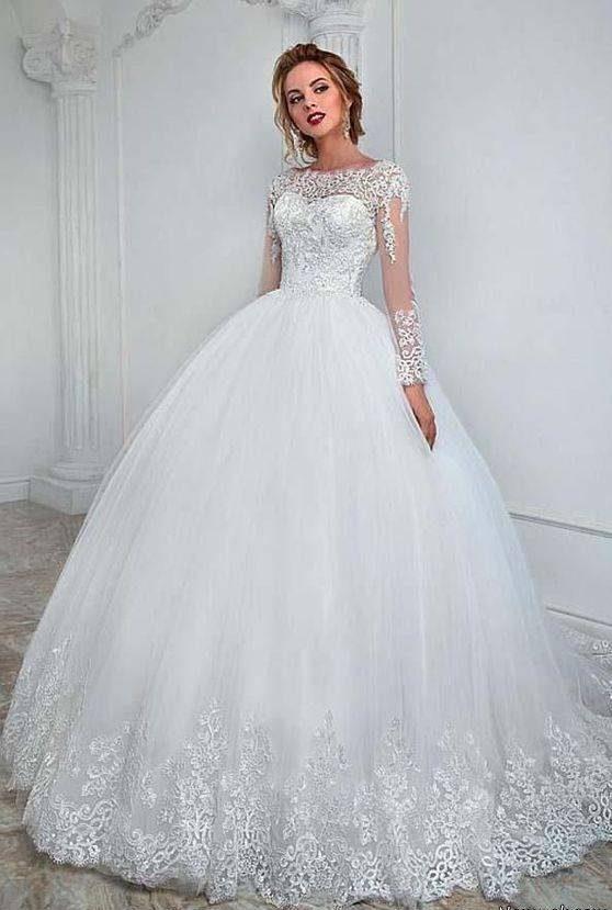 مدل لباس عروس ترکیه ای آستین گیپور لاکچری