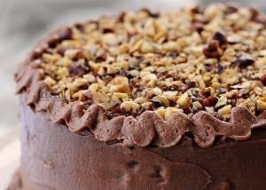 کیک شکلاتی فندقی