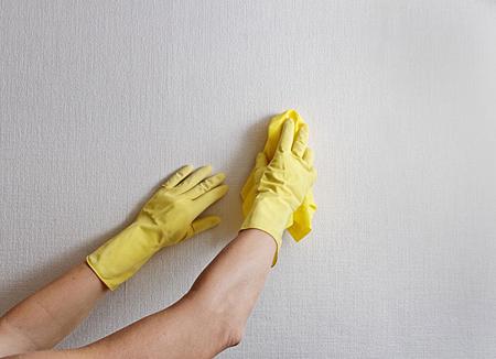 با این ترفندها کاغذ دیواری و دیوار را تمیز کنید
