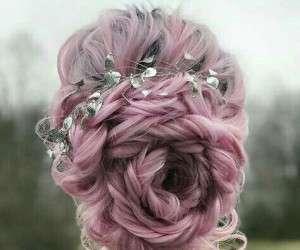 مدل موهای باز و بسته مجلسی به شکل گل