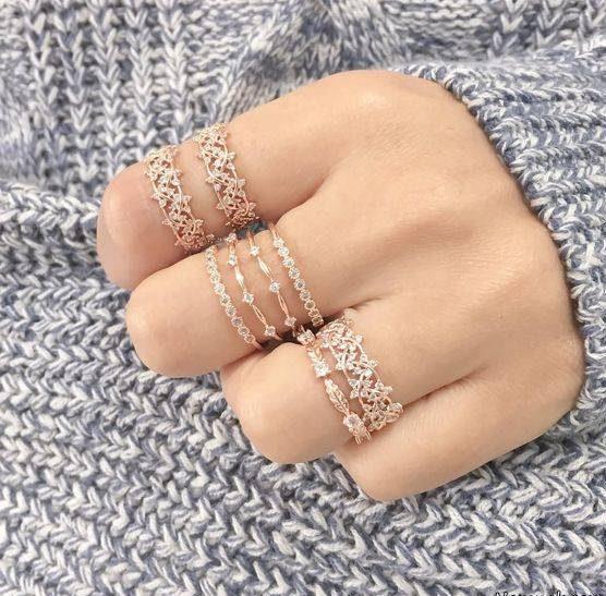 مدل های انگشتر و بند انگشتی های ظریف دخترانه
