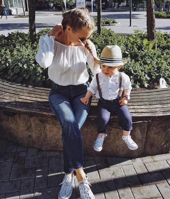 مدل لباس های ست مادر و پسر