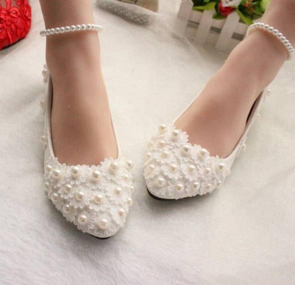 زیباترین مدل کفش عروس بدون پاشنه