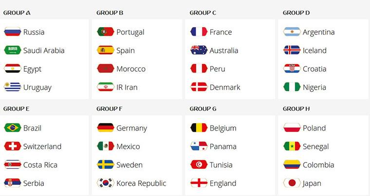برنامه بازی های جام جهانی
