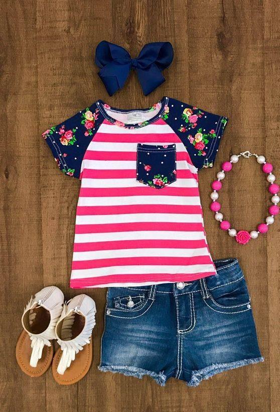 ست لباس دخترانه تابستانی 4 تا 6 ساله با صندل