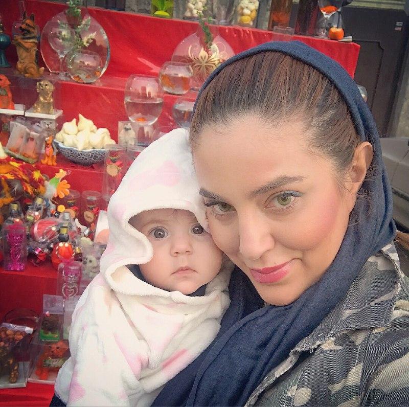 شیما محمدی و دخترش نیکا