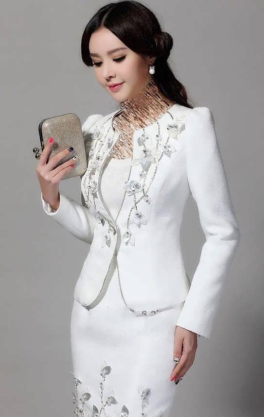 Coat daman 1 e1528575718796 مدل کت و دامن کار شده مجلسی زنانه و دخترانه شیک و جدید مدل لباس