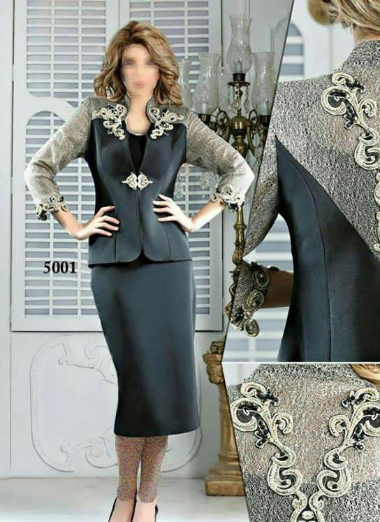 Coat daman 7 e1528575961612 مدل کت و دامن کار شده مجلسی زنانه و دخترانه شیک و جدید مدل لباس
