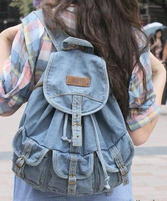 کوله پشتی جین دخترانه ویژه دختران دبیرستانی