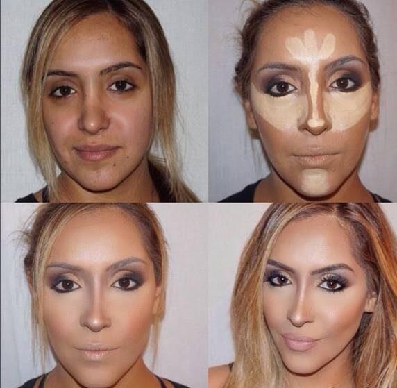 روش کانتورینگ برای صورت های بیضی شکل
