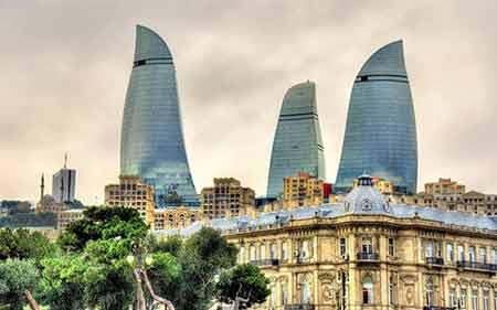 برج شعله در باکو