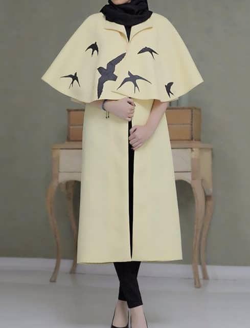 Manto Laghar 12 e1531079141594 مدل مانتو کوتاه و بلند شیک برای دختران و زنان لاغر اندام مدل لباس