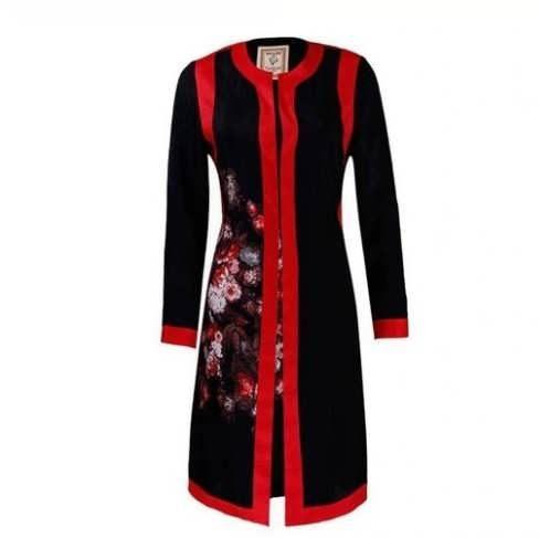 Manto Laghar 14 e1531079192668 مدل مانتو کوتاه و بلند شیک برای دختران و زنان لاغر اندام مدل لباس