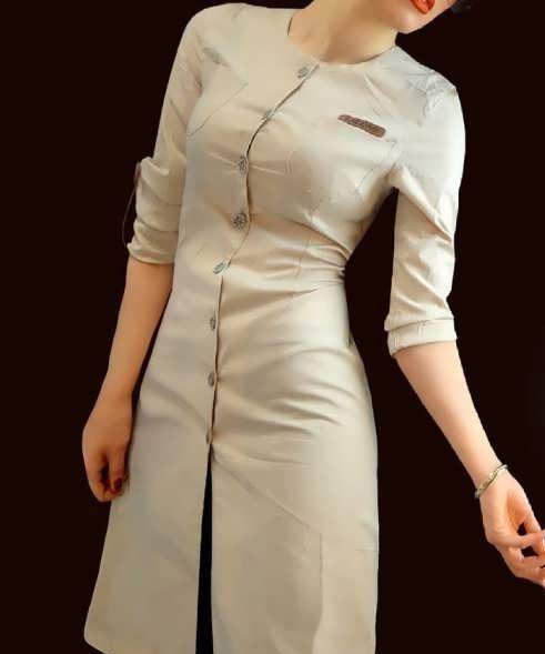 Manto Laghar 15 e1531079209167 مدل مانتو کوتاه و بلند شیک برای دختران و زنان لاغر اندام مدل لباس