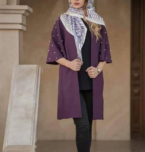 Manto Laghar 16 e1531079241924 مدل مانتو کوتاه و بلند شیک برای دختران و زنان لاغر اندام مدل لباس