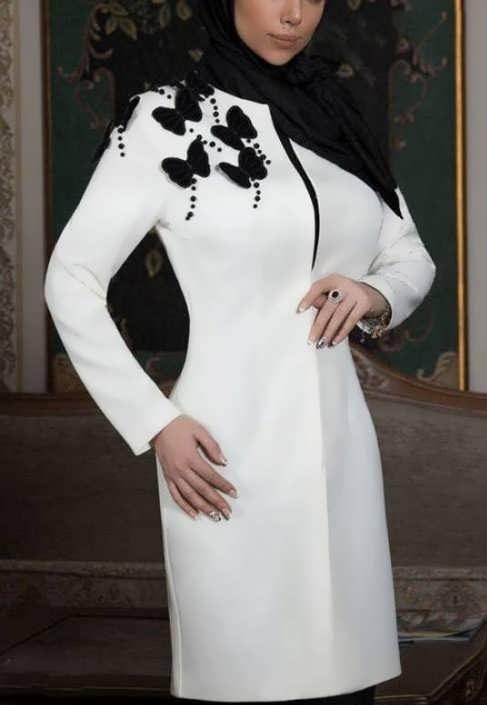 Manto Laghar 17 e1531079260466 مدل مانتو کوتاه و بلند شیک برای دختران و زنان لاغر اندام مدل لباس