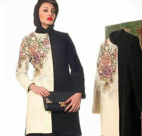 Manto Laghar 2 e1531078851403 مدل مانتو کوتاه و بلند شیک برای دختران و زنان لاغر اندام مدل لباس