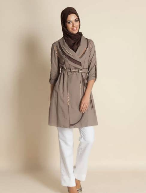 Manto Laghar 20 e1531079322459 مدل مانتو کوتاه و بلند شیک برای دختران و زنان لاغر اندام مدل لباس
