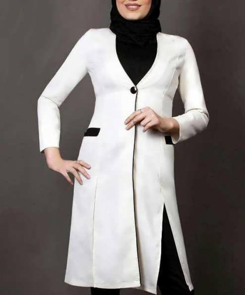 Manto Laghar 21 e1531079340763 مدل مانتو کوتاه و بلند شیک برای دختران و زنان لاغر اندام مدل لباس