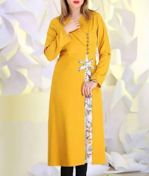 Manto Laghar 22 e1531079358421 مدل مانتو کوتاه و بلند شیک برای دختران و زنان لاغر اندام مدل لباس