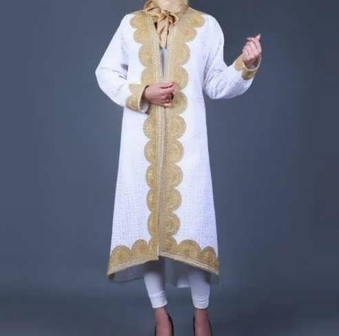 Manto Laghar 23 e1531079394393 مدل مانتو کوتاه و بلند شیک برای دختران و زنان لاغر اندام مدل لباس
