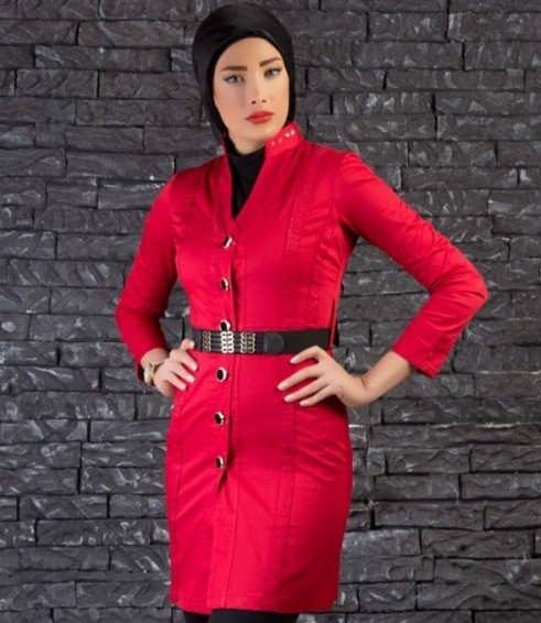 Manto Laghar 25 e1531079457732 مدل مانتو کوتاه و بلند شیک برای دختران و زنان لاغر اندام مدل لباس