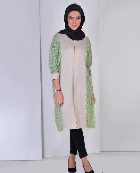 Manto Laghar 26 e1531079479767 مدل مانتو کوتاه و بلند شیک برای دختران و زنان لاغر اندام مدل لباس