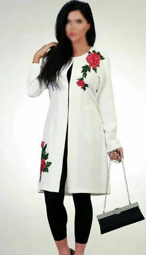 Manto Laghar 28 e1531079552622 مدل مانتو کوتاه و بلند شیک برای دختران و زنان لاغر اندام مدل لباس