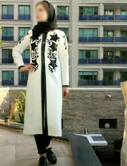 Manto Laghar 3 e1531078875769 مدل مانتو کوتاه و بلند شیک برای دختران و زنان لاغر اندام مدل لباس
