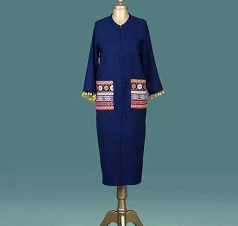 Manto Laghar 30 e1531079688962 مدل مانتو کوتاه و بلند شیک برای دختران و زنان لاغر اندام مدل لباس