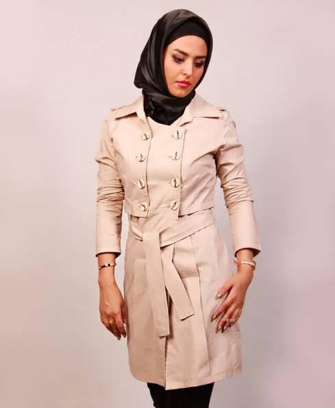 Manto Laghar 32 e1531079720664 مدل مانتو کوتاه و بلند شیک برای دختران و زنان لاغر اندام مدل لباس