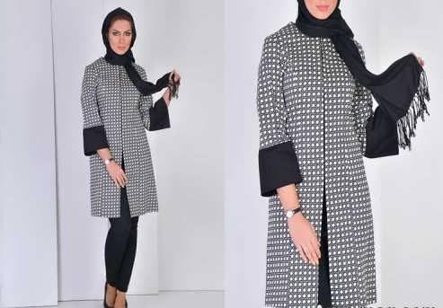 Manto Laghar 4 e1531078894301 مدل مانتو کوتاه و بلند شیک برای دختران و زنان لاغر اندام مدل لباس