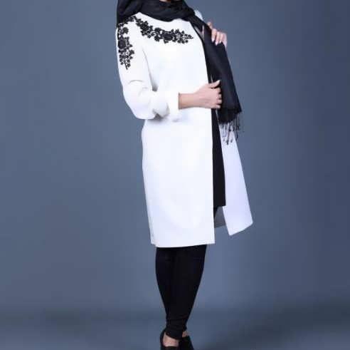 Manto Laghar 6 e1531078988111 مدل مانتو کوتاه و بلند شیک برای دختران و زنان لاغر اندام مدل لباس