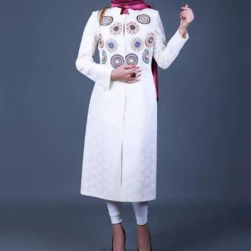 Manto Laghar 7 e1531079010772 مدل مانتو کوتاه و بلند شیک برای دختران و زنان لاغر اندام مدل لباس