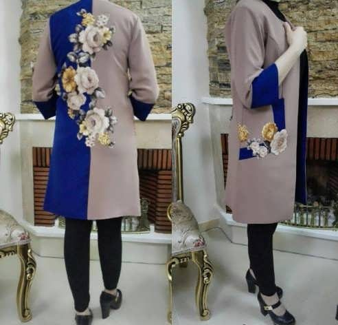 Manto Laghar 8 e1531079043646 مدل مانتو کوتاه و بلند شیک برای دختران و زنان لاغر اندام مدل لباس