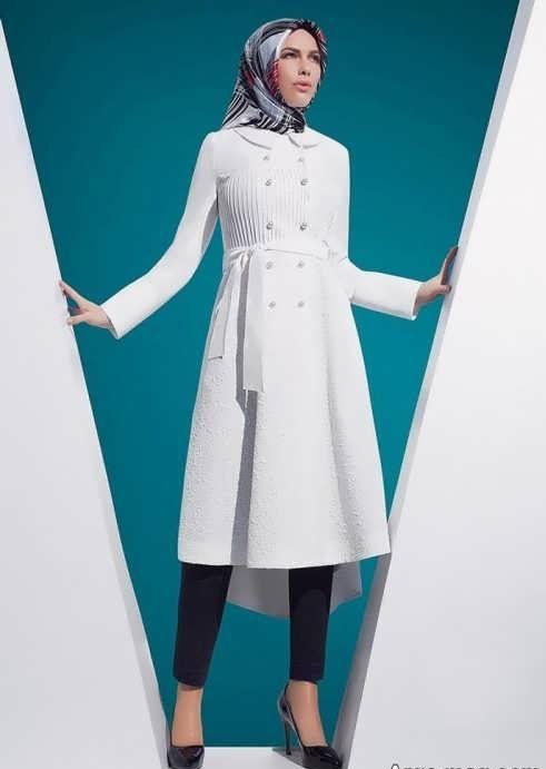 Manto Laghar 9 e1531079080146 مدل مانتو کوتاه و بلند شیک برای دختران و زنان لاغر اندام مدل لباس