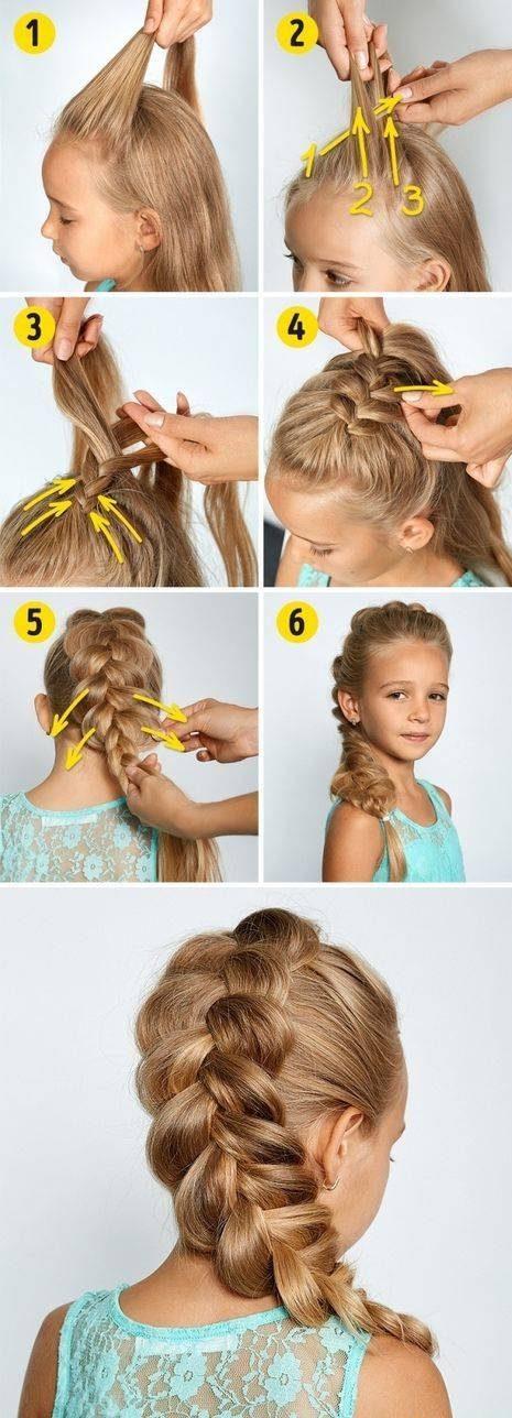 آموزش بافت موی دختر شما به زیباترین شیک در کمتر از 3 دقیقه