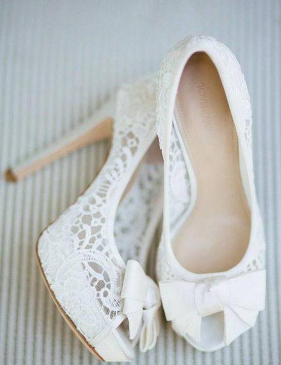 Photo of مدل کفش پرنسسی سفید عروس پاپیونی و گیپور + تصاویر